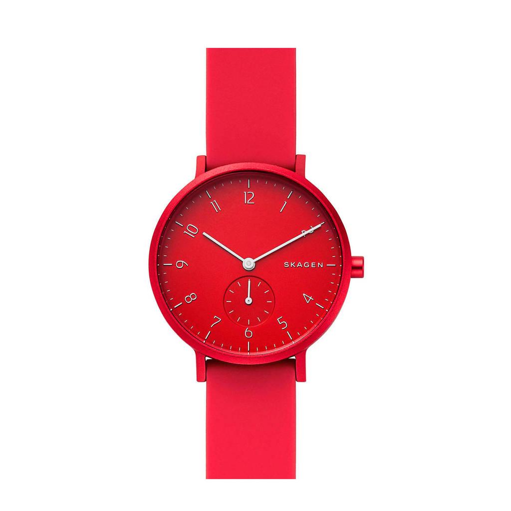 Skagen horloge Aaren SKW2765 rood, Rood, 36