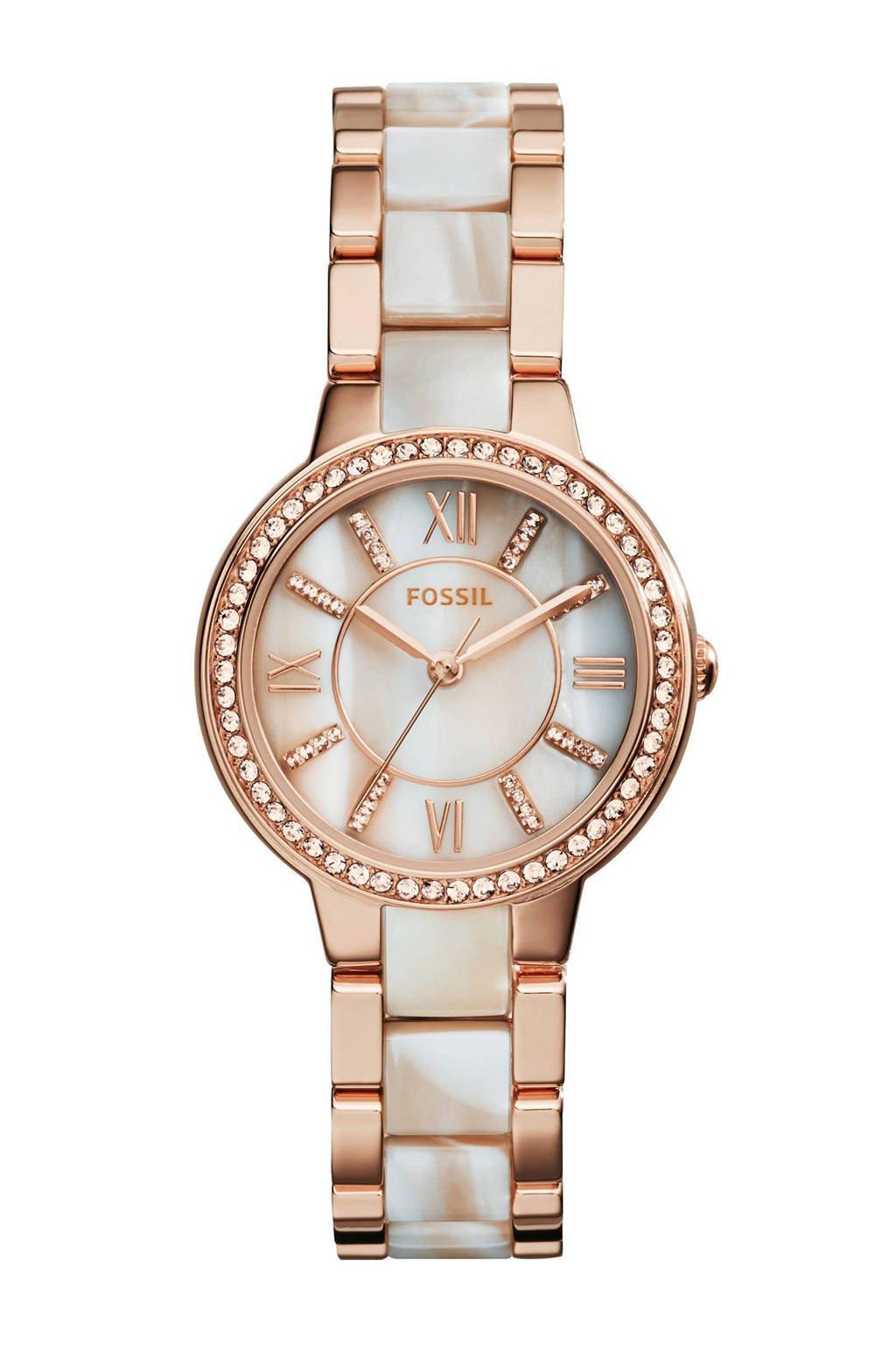 Fossil Virginia Dames Horloge ES3716, Rosé