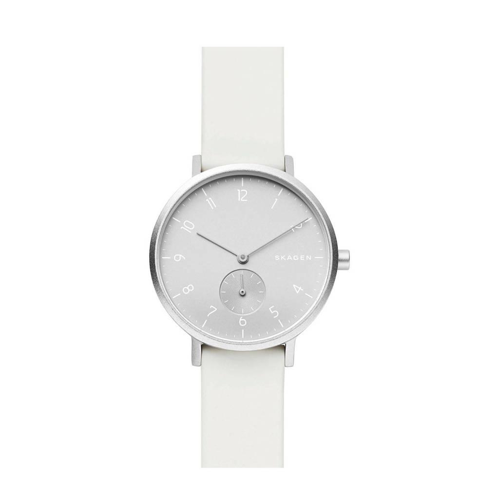 Skagen horloge Aaren SKW2763 wit/zilverkleur, Zilver/wit, 36