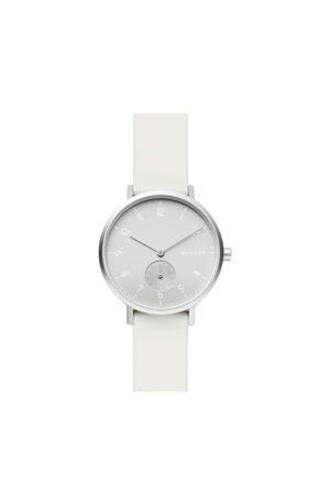 horloge Aaren SKW2763 wit/zilverkleur