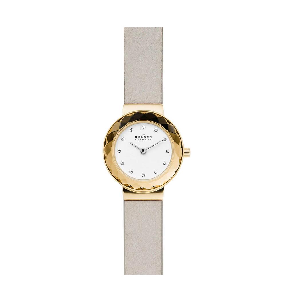 Skagen Leonora Dames Horloge SKW2778, goud/wit