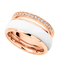 Fossil Classics Dames Ring JF01123791, Rosé, wit