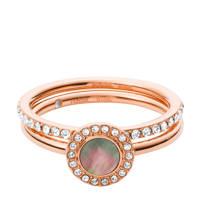 Fossil Classics Dames Ring JF02954791, Rosé
