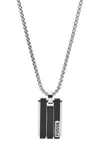 Fossil ketting JF03126998, Zilver/zwart