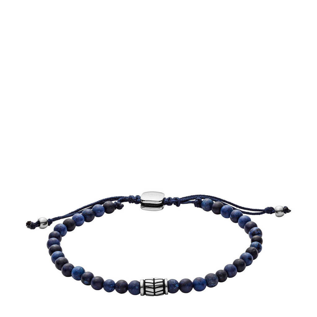 Fossil Vintage Casual Heren Armband JF02888040, Blauw