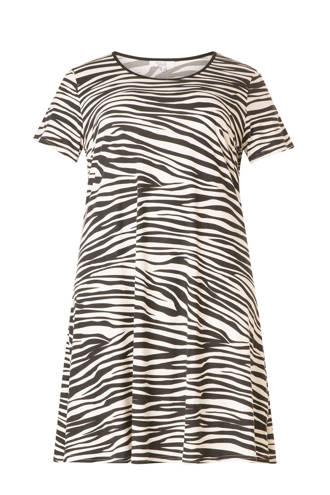 jurk met zebra print
