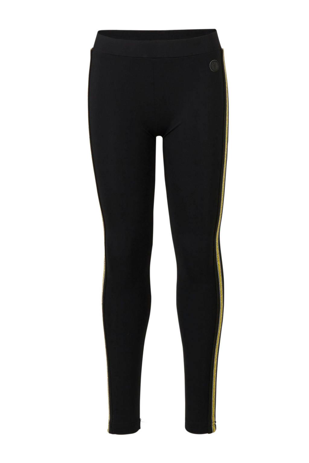 LEVV skinny jeans Dot  met zijstreep, Zwart