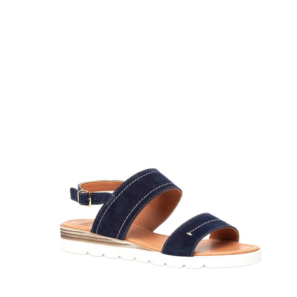 TwoDay suède sandalen blauw, Blauw