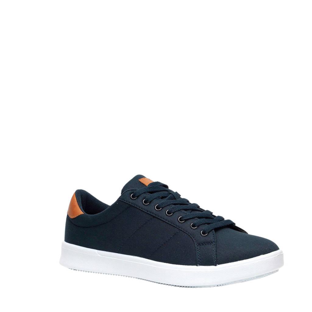 Scapino Blue Box  sneakers donkerblauw, Donkerblauw/Cognac