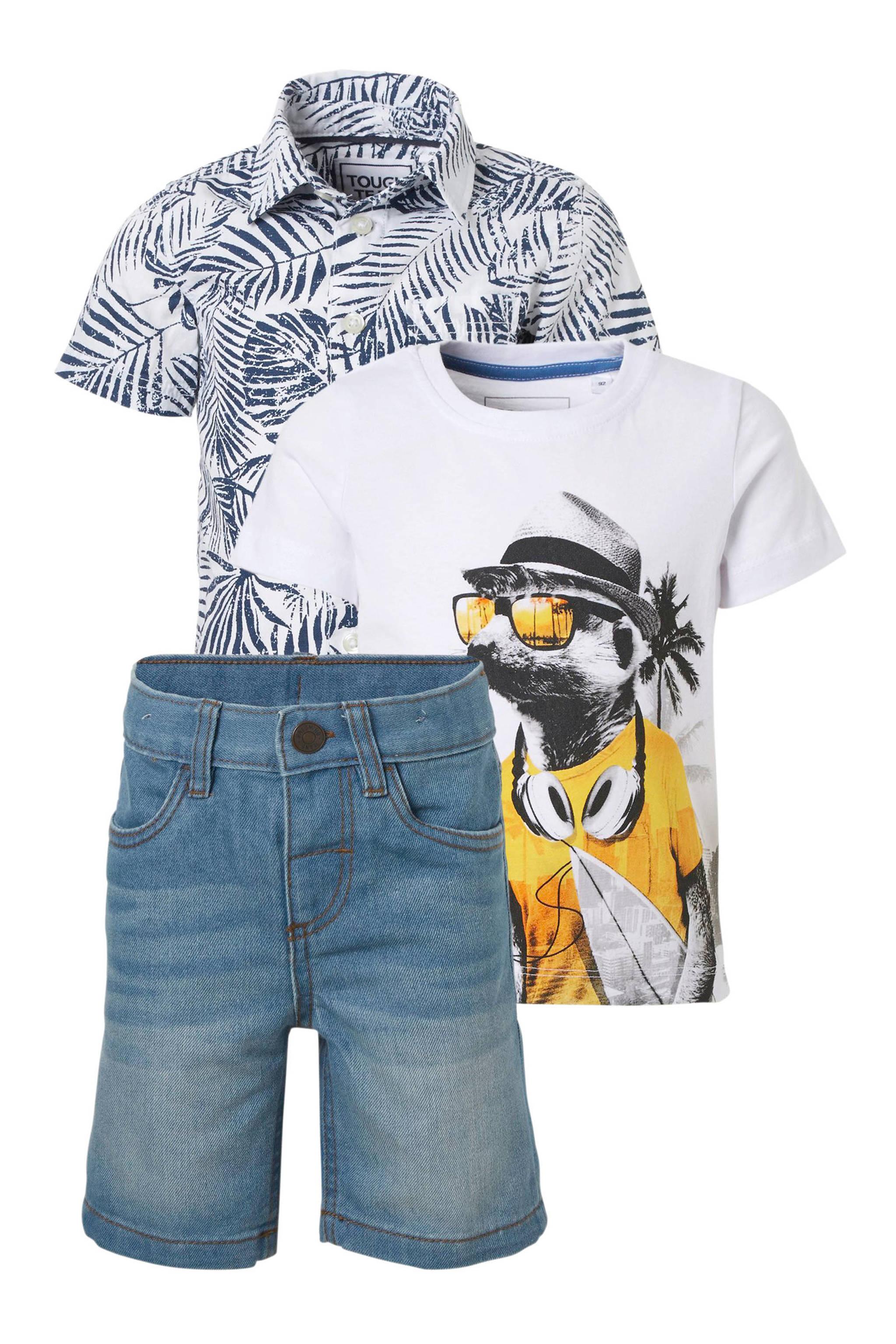T Shirt Overhemd.C A Palomino Overhemd T Shirt Jeans Short Wehkamp