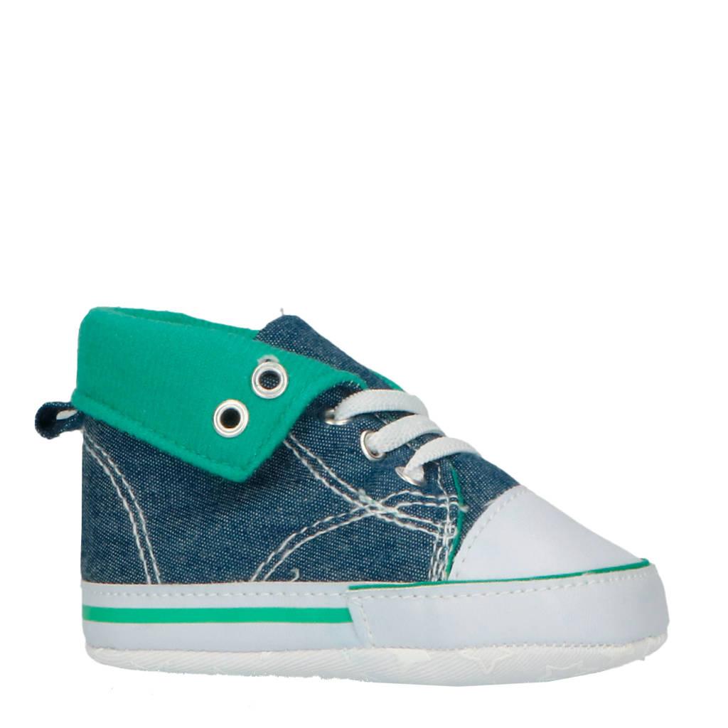 XQ babyschoenen blauw/groen, Blauw/groen