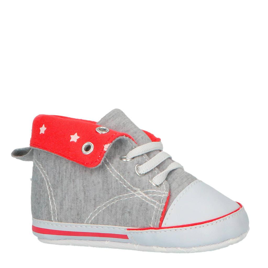 XQ babyschoenen grijs/rood, Grijs/rood/wit