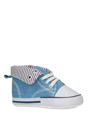 babyschoenen blauw/wit