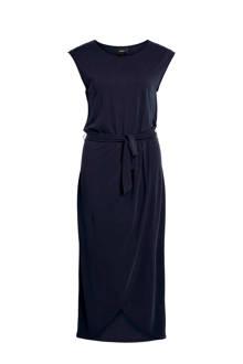 jurk met strikceintuur donkerblauw