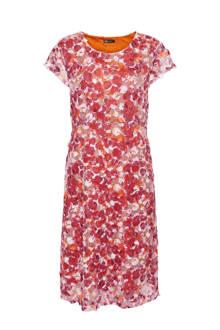 A-lijn jurk met all over print rood