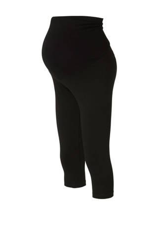 Yessica zwangerschaps capri legging zwart