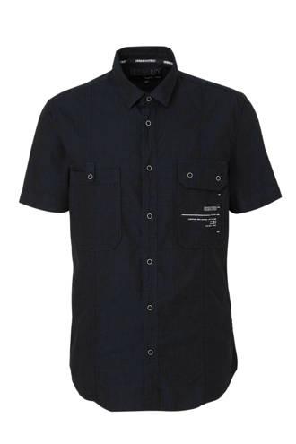 Angelo Litrico regular fit overhemd met textuur marine