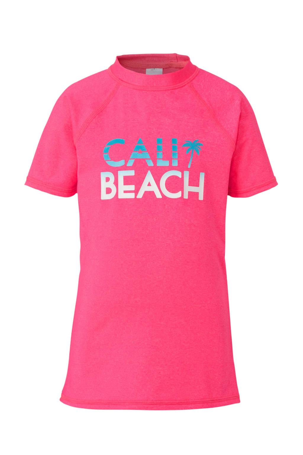 C&A Rodeo UV T-shirt met printopdruk neon roze, Neon roze