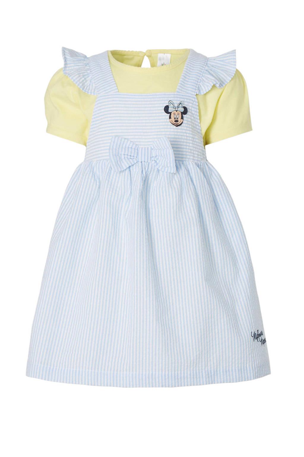C&A Baby Club Minnie Mouse jurk + T-shirt, Blauw/wit/geel
