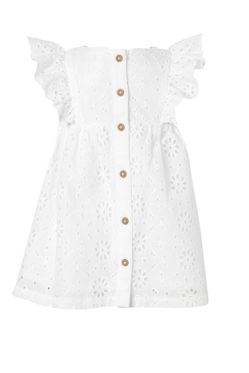 9c5432c0f619a6 C A Baby Club broderie jurk wit