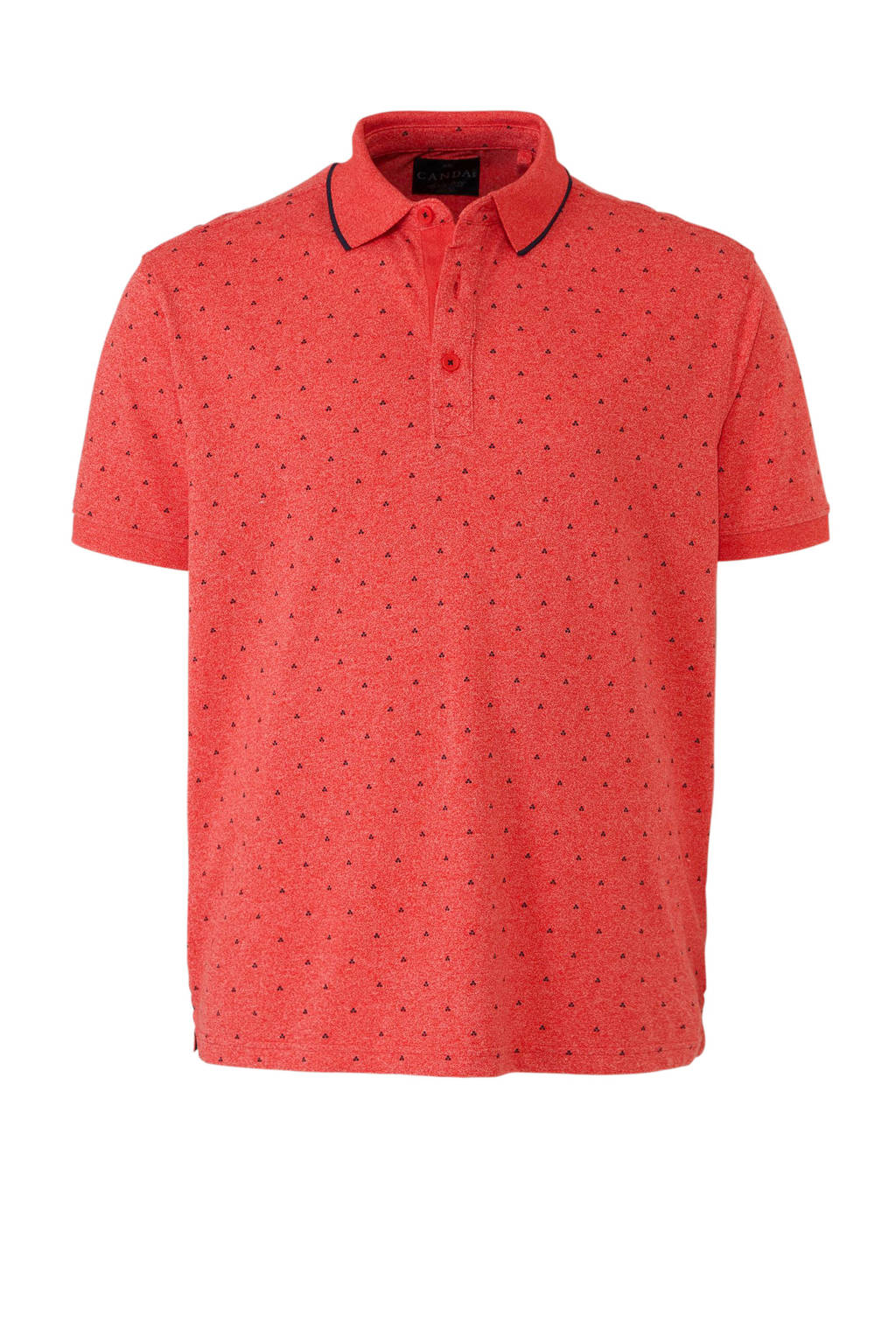 C&A XL Canda polo met all over print, Rood