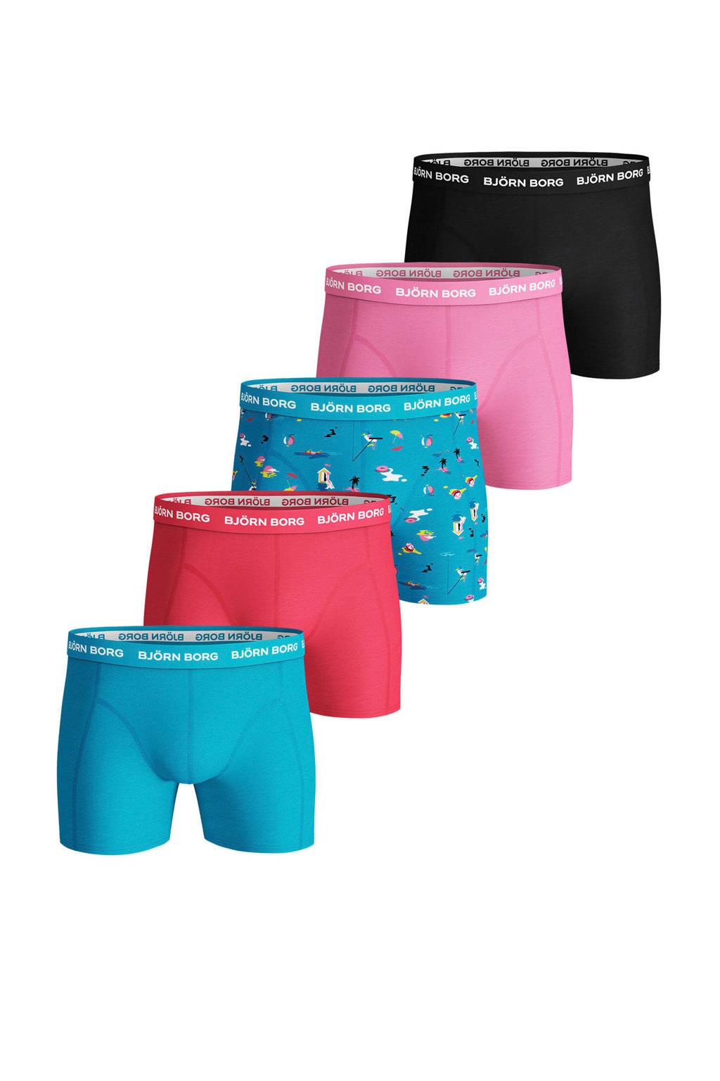 Björn Borg boxershort (set van 5), Blauw/roze/zwart