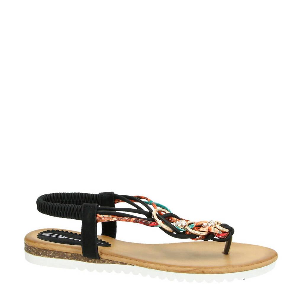 Dolcis sandalen zwart/multi, Zwart