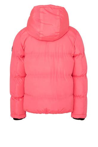 winterjas neon roze