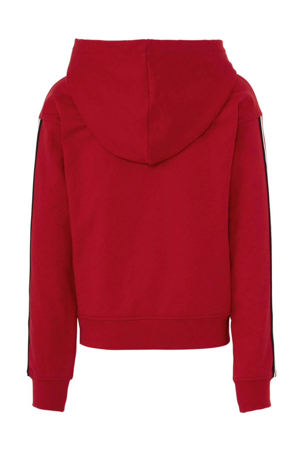 Cars hoodie Carsy met contrastbies rood, Rood