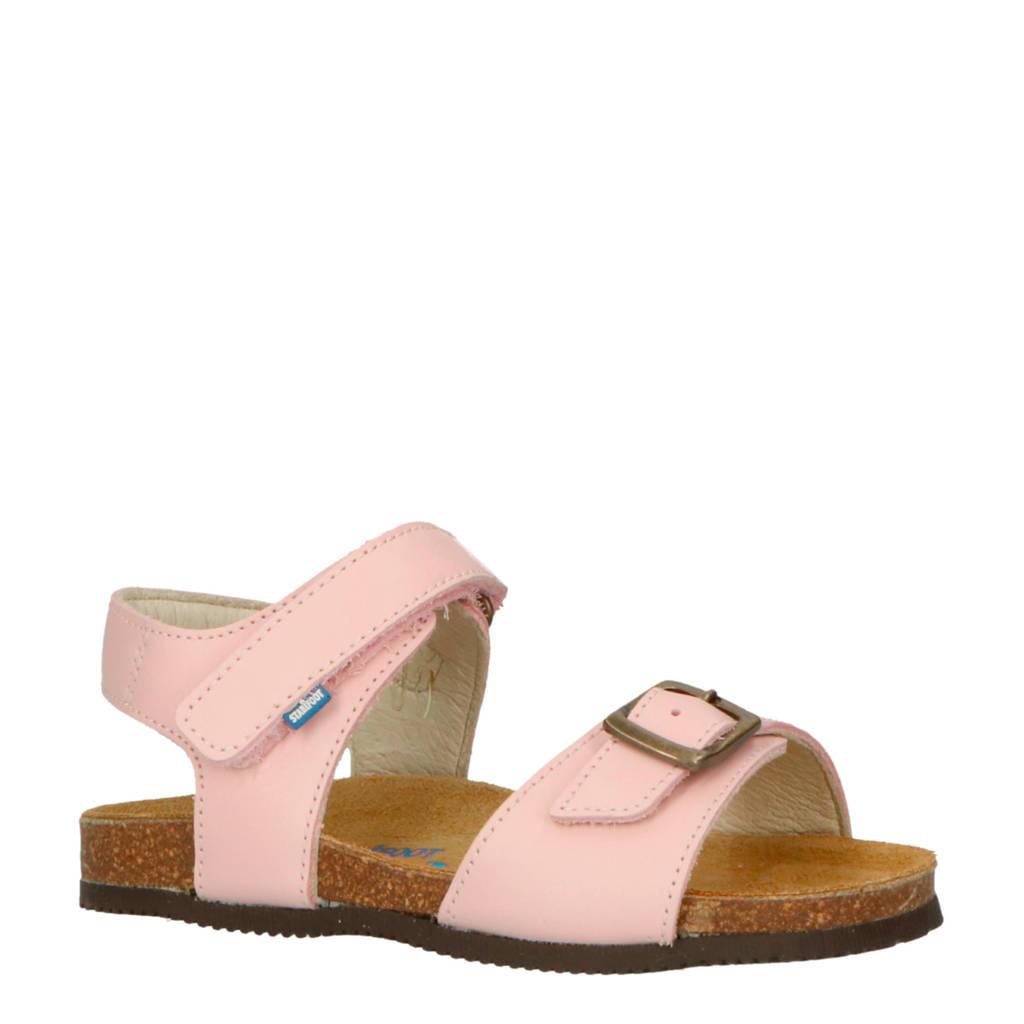 Stabifoot   Happy Pink leren sandalen roze, Roze