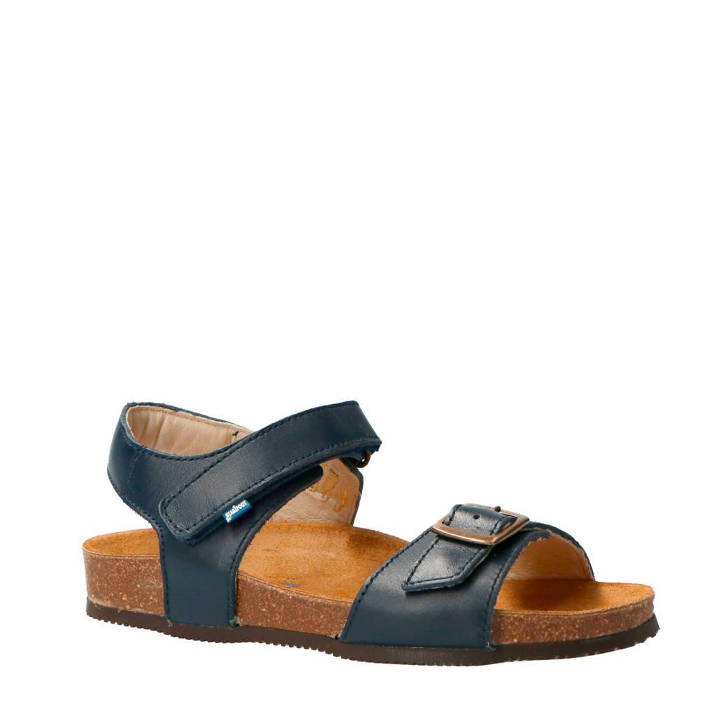 Stabifoot   Happy Marine leren sandalen blauw, Blauw