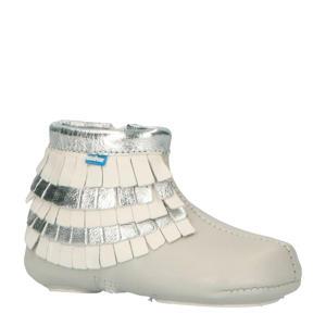 Babyfoot leren babyschoenen grijs/zilver