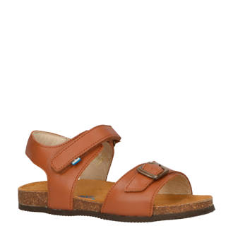 Happy York leren sandalen cognac