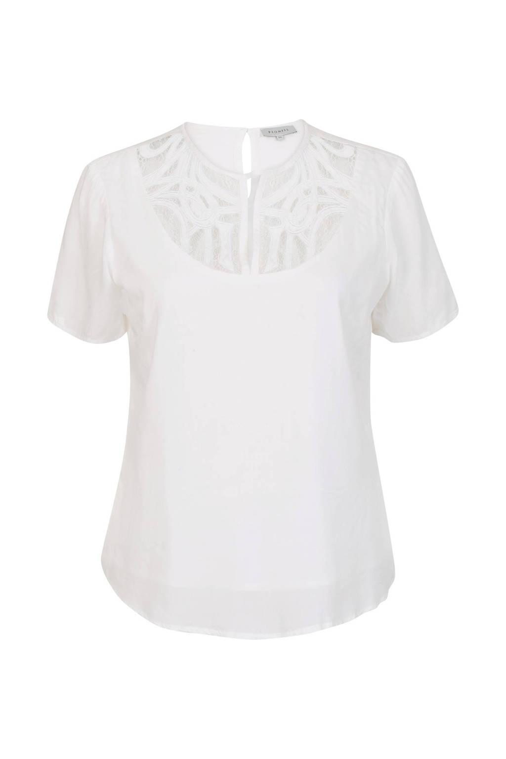 PROMISS top met kant wit, Wit