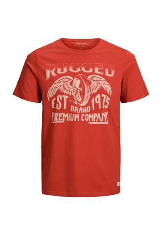 Premium slim fit T-shirt met printopdruk