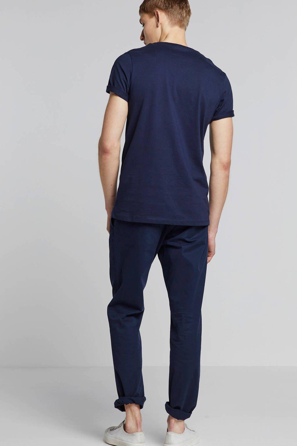 Jack & Jones Premium -shirt met printopdruk marine, Marine/beige