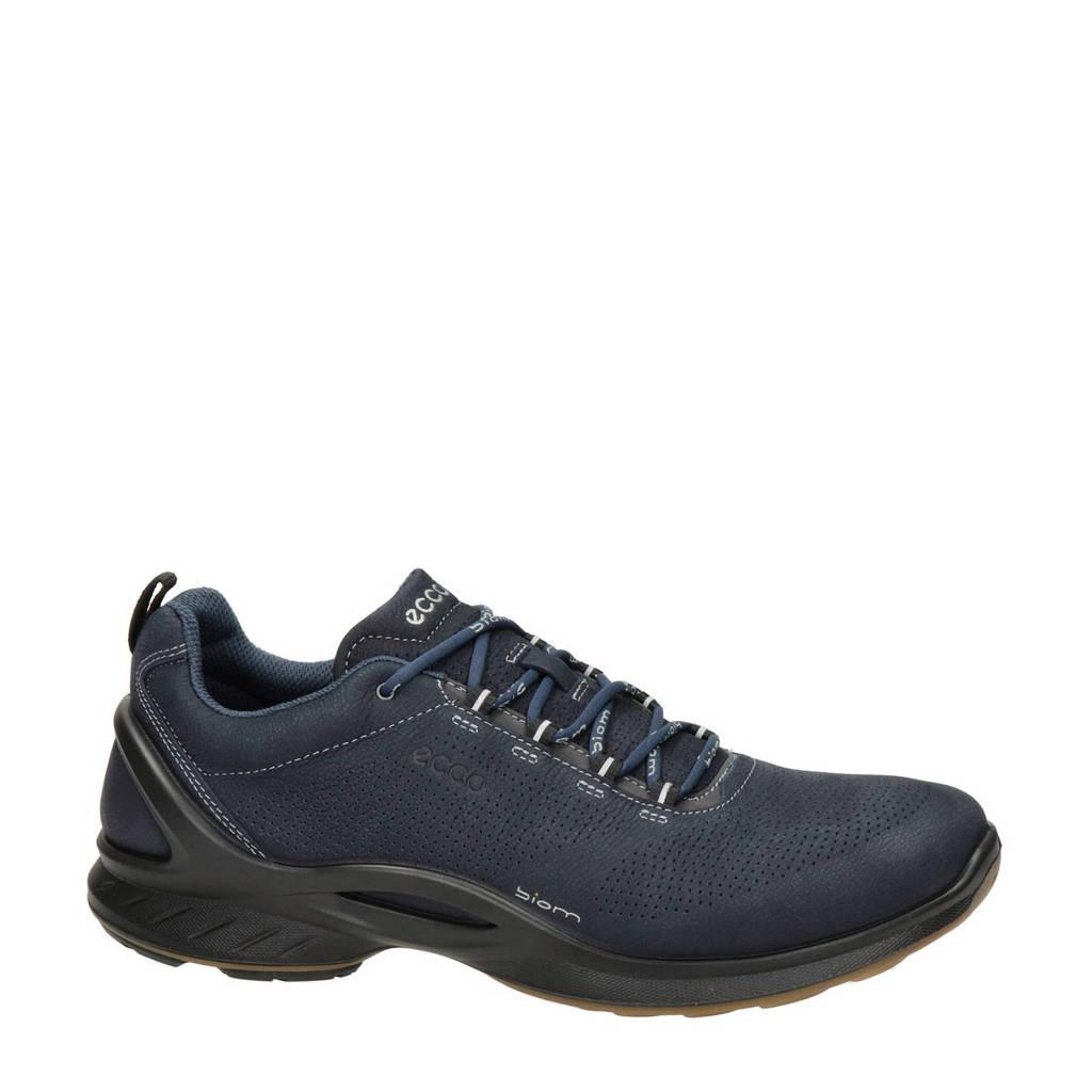 Ecco Biom Fjuel  nubuck lage wandelschoenen donkerblauw, Donkerblauw