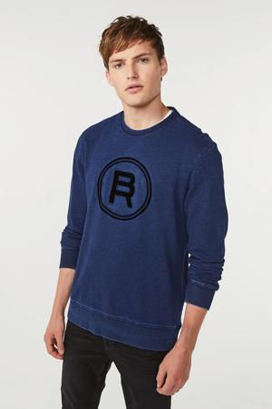 Blue Ridge sweater met printopdruk donkerblauw