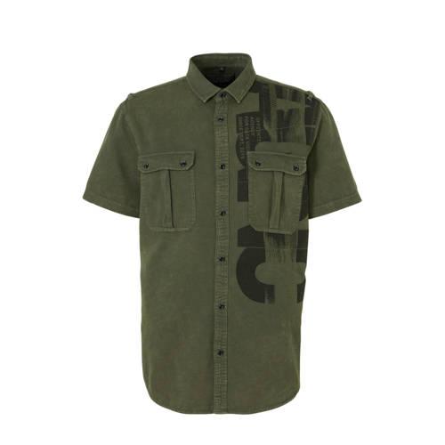 C&A Angelo Litrico regular fit overhemd groen