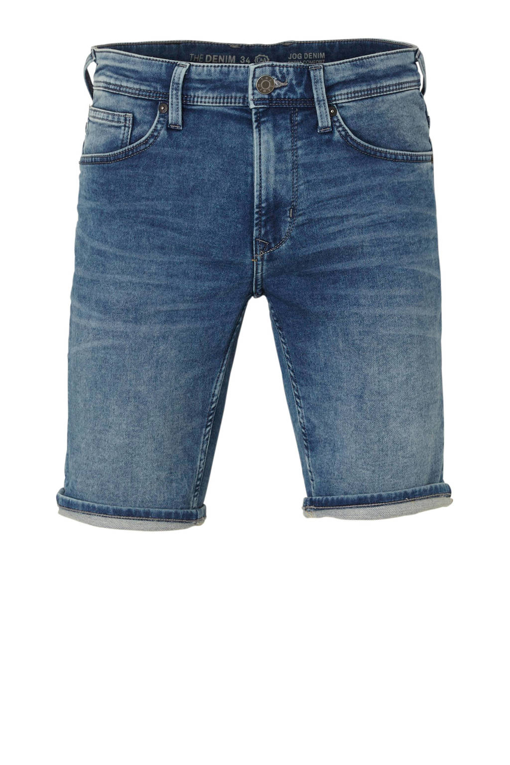 C&A The Denim regular fit denim jeans short, middenblauw