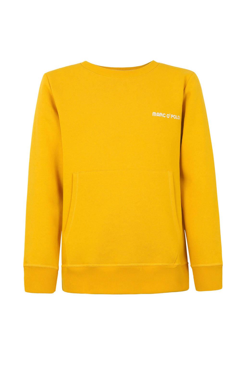 Marc O'Polo sweater met logo oker, Oker