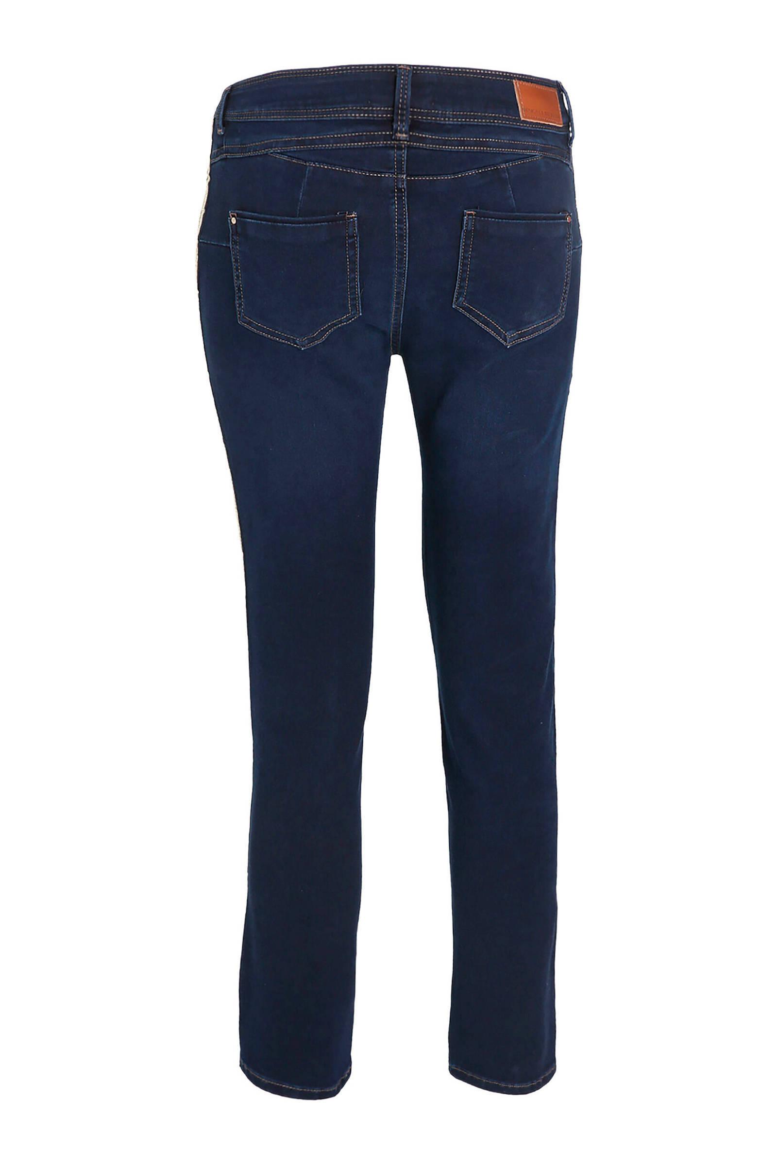 Cassis slim fit jeans met zijstreep denim   wehkamp