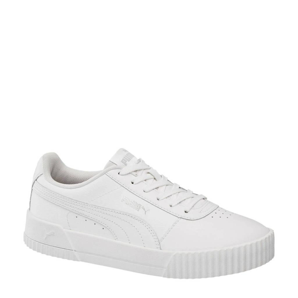 Puma Carina leren sneakers wit, Wit