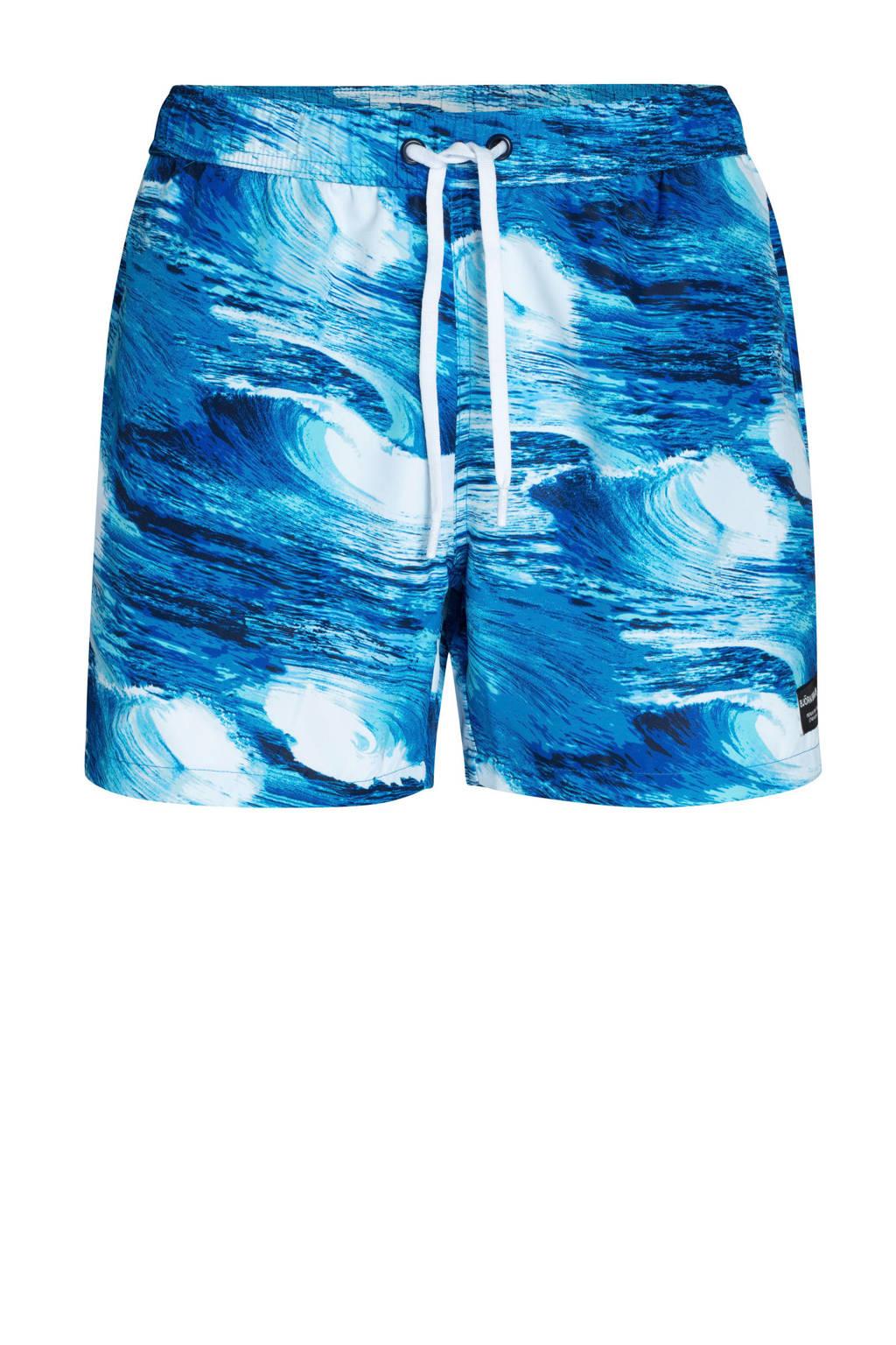 Björn Borg zwemshort met all over print blauw, Blauw