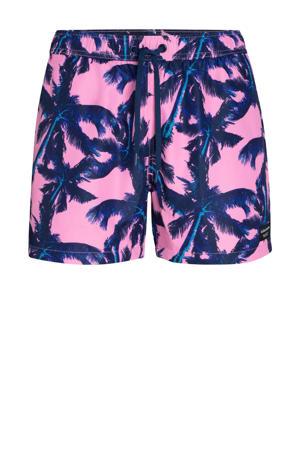 zwemshort met all over print roze