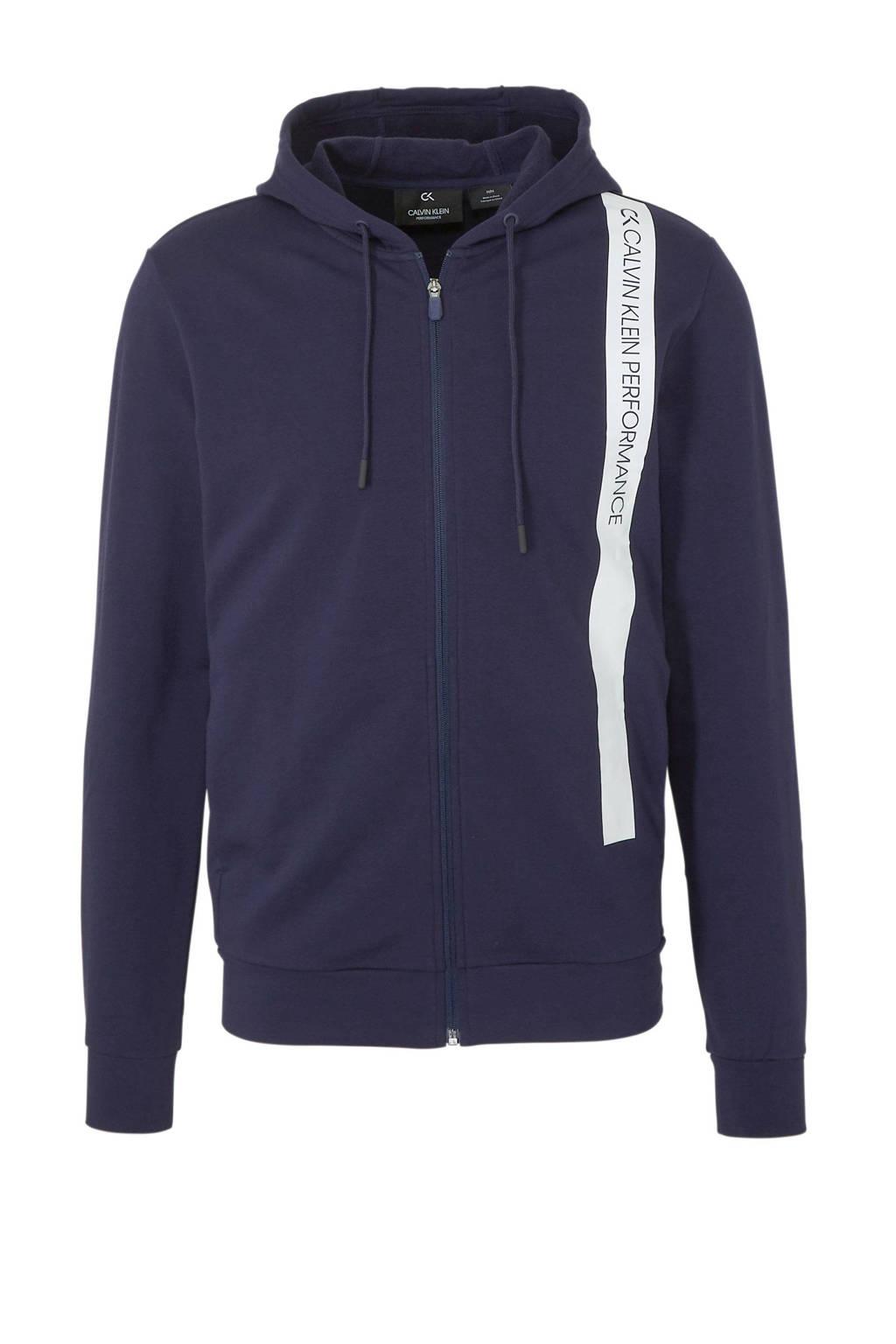 CALVIN KLEIN PERFORMANCE   vest met printopdruk donkerblauw/wit, Donkerblauw/wit