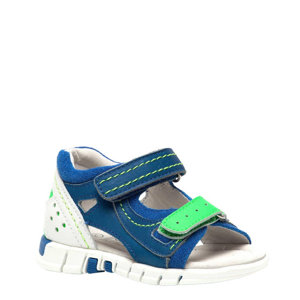 TwoDay leren sandalen blauw/wit, Blauw/groen/wit