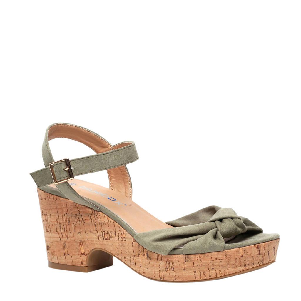 Scapino Blue Box sandalettes kaki, Kaki