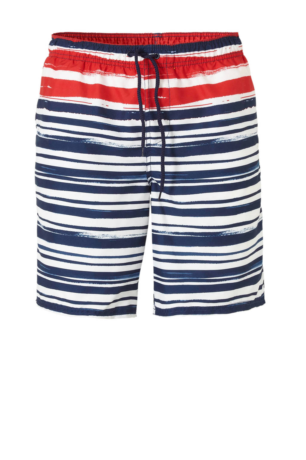 C&A zwemshort met all over print marine, Marine/rood/wit