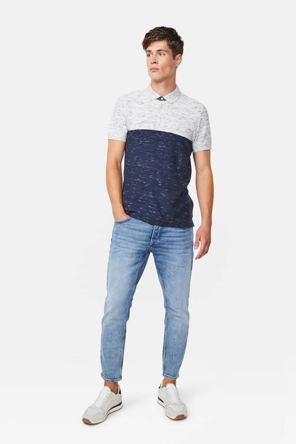 WE Fashion gemêleerd T-shirt donkerblauw/grijs, Donkerblauw/grijs